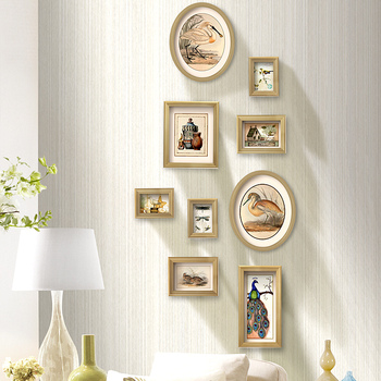Picture Frames For Paintings Wooden Frame For Wedding Decor Photo Frame 9 pcs/set Wall Pictures For Living Room Porta Retrato