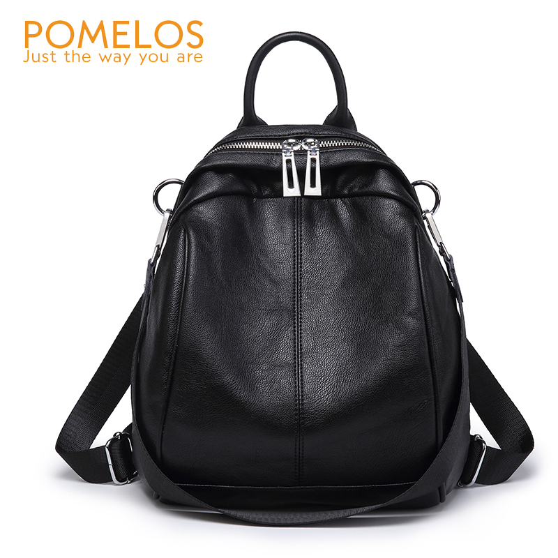 POMELOS Backpack Women 2018 Autumn New Arrive Small Backpack Soft Leather Fashion Women Backpack School Bags For Teenage Girls foxer 2018 new women leather bag fashion school bags for teenage girls women backpack