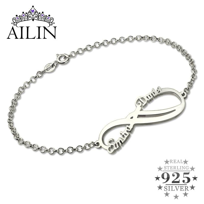 Silver Infinity Names Bracelet Personalized 2 Names Bracelet Infinity Bracelet Mother's Bracelet Custom Sister Gift vintage no names крест винтажный 60е