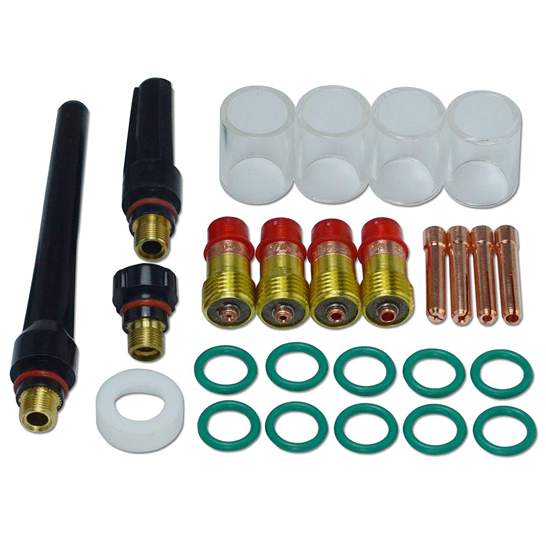 (tropfen Verschiffen) Tig Stubby Gas Objektiv #10 Pyrex Tasse Kit Db Sr Wp 17 18 26 Wig-schweißbrenner 26 Stücke Dinge Bequem Machen FüR Kunden