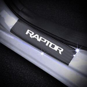 Image 2 - ประตูสำหรับFord RAPTOR F 150 คาร์บอนไฟเบอร์ไวนิลสติกเกอร์รถประตูยินดีต้อนรับสติ๊กเกอร์อุปกรณ์เสริม 4pcs