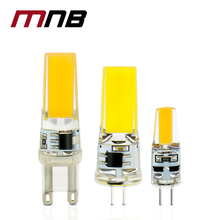 10PCS/lot LED G4 G9 Lamp Bulb AC/DC 12V 220V 6W 9W dimmable COB SMD LED Lighting Lights replace Halogen Spotlight Chandelier