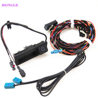 HONGGE NEW RGB Reversing Video Camera + Cable Harness For VW Tiguan A4 A6 Q5 A7 S6 RCD510 RNS310 5ND 827 566C 5N0827566C