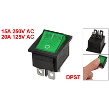 KCD4 DPST ON-OFF 4 Pin Electrical equipment With Light Power Switch Terminals Rocker Boat Switch  15A/20A AC 250V/125V css 6 terminals on off on dpdt toggle switch ac 250v 15a