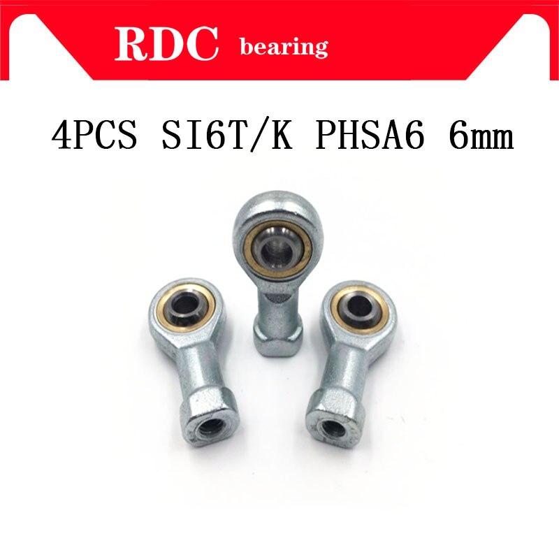 CNC PHSA6 right hand female thread metric rod end joint bearing 4pcs