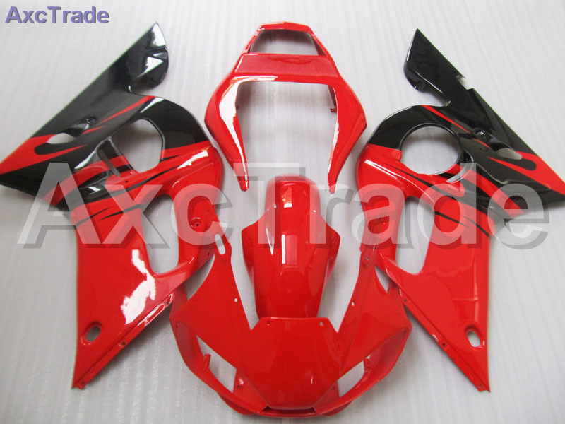 Red Black Moto Fairing Kit For Yamaha YZF600 YZF 600 R6 YZF-R6 1998-2002 98 - 02 Fairings Custom Made Motorcycle Bodywork C821 motorcycle fairings kits for yamaha yzf600 yzf 600 r6 yzf r6 2008 2014 08 14 abs injection fairing bodywork kit red black a40