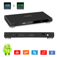4GB+32GB Rockchip RK3399 Smart Android TV Box 7.1 WiFi BT4.0 H.265 4K USB3.0 Media player Support YouTube HDMI2.0 HD android Box