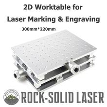2D Рабочий стол 2 оси движущийся алюминий верстак DIY Рабочая часть волокна CO2 лазерная маркировочная гравировальная машина Прямая поставка с фабрики