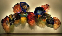 Chihuly Style Custom Colored Hotel Decor Blown Glass Wall Plates