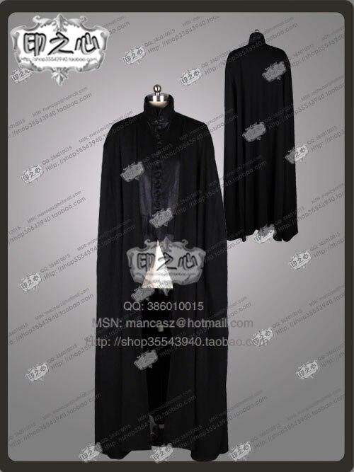 2016 костюм для косплея из фильма «Дары смерти», «Северус Снейп», черный халат, униформа на Хэллоуин