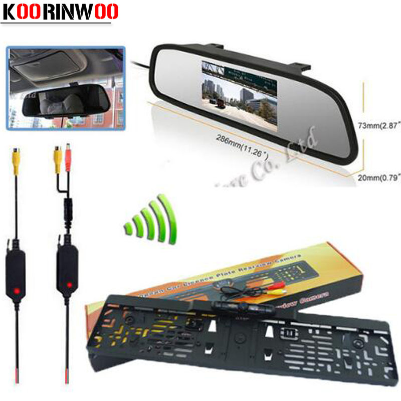 Koorinwoo parking Assist System 4.3 digital LCD espejo Monitores ...