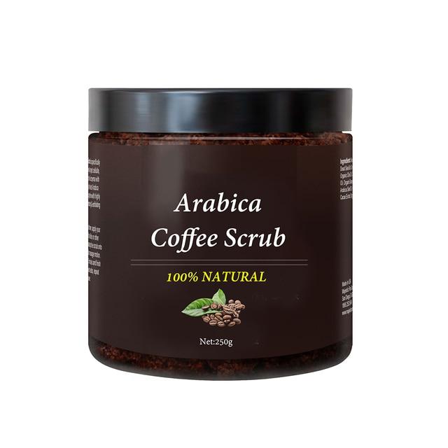 Coffee Body Scrub Cream Facial Dead Sea Salt for Exfoliating Whitening