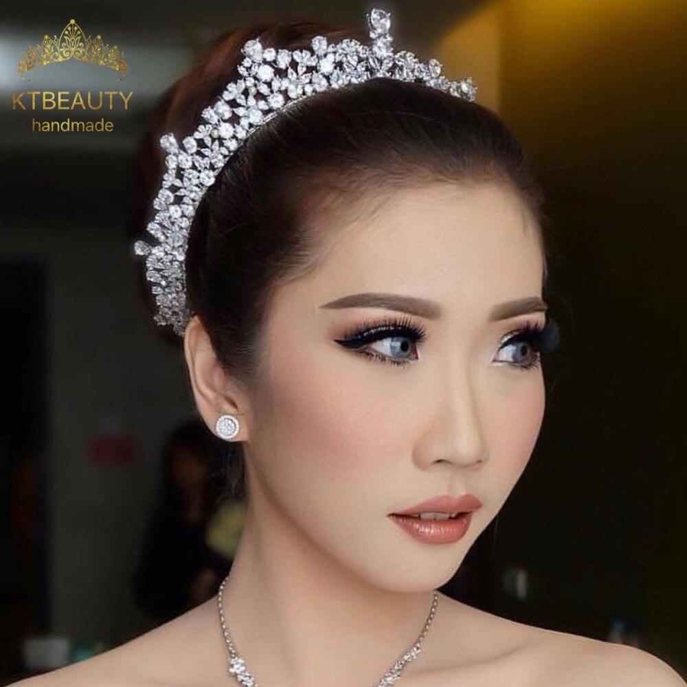 DHL noticias diamantes de imitación Zirconna Tiara plata Tiara moda Headpieces Royal Bridal Wedding Dressing Crown accesorio mujer joyería