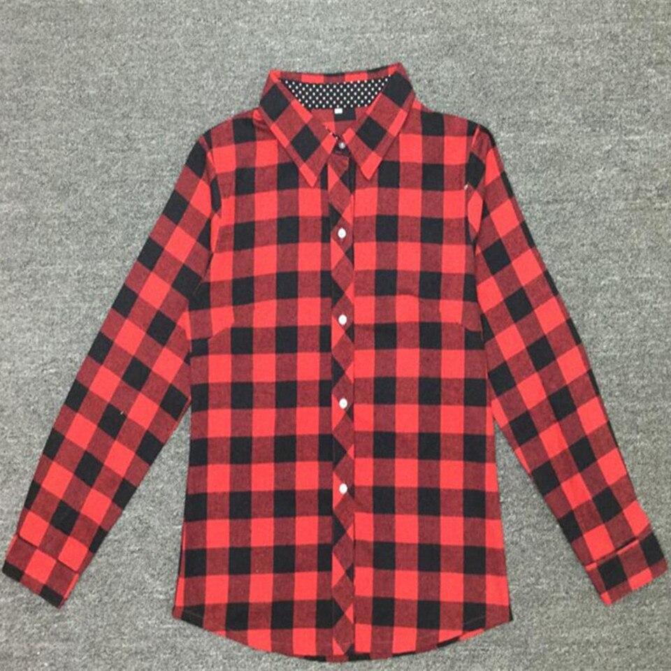 Baby Girls Boys Christmas Long Sleeve Shirt Girl Red Plaid Tops Kids - Children's Clothing - Photo 2