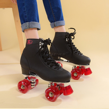 Reniaever gifts, indoor/outdoor street riding, double roller skates, aluminum  plate, wine wheels free shipping