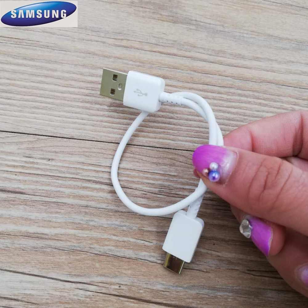الأصلي 20 سنتيمتر USB نوع C كابل 2A سريع شاحن نوع-C كابل بيانات لسامسونج غالاكسي S8 s9 plus ملاحظة 8 A3 A5 A7 2017 الأسود/الأبيض