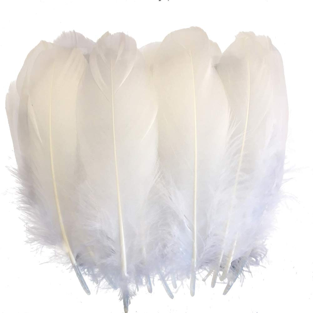 White Goose Nagoire Loose Feather 5 7 quot 13 18cm Goose Feathers for Crafts Clothing Accessories Feather for Jewelry Making Plumas in Feather from Home amp Garden