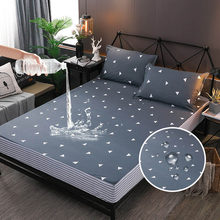 Floral Printing Waterproof Sheet Bedding Linens With Elastic Band Dust Proof Mattress Protector For Bed Wetting Anti-mite 1 PC(China)