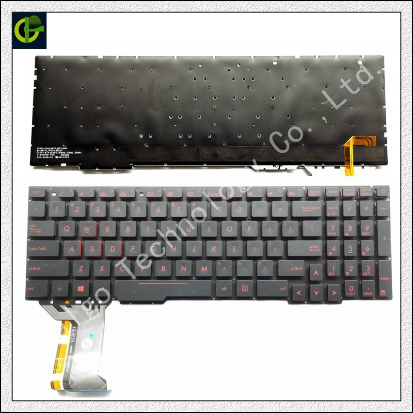 English Backlit Keyboard For Asus Rog GL553VD GL553VE GL553VW GL753 GL753V GL753VE GL753VD ZX53V ZX53VD ZX53VE ZX53EW ZX53VW US