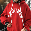 2017 Women Hoodies Casual Women Long Sleeve Letters Print Hoodies Sweatshirt Spring Autumn Women Splice Stripes thick Apparel
