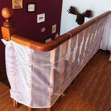 Children Safety Rail Balcony Stairs Safety Net Banister Stair Net for Kids/ Pet/ Toy Safety on Indoor/Outdoor Stairs, Balcony
