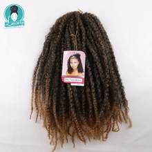 Роскошные косички для плетения, 18 дюймов, Омбре, Марли, косички, вязанные волосы, афро, кудрявые, синтетические косички, вязанные, скрученные косички