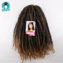 Luxury For Braiding 18 inch Ombre Marley Braids Hair Crochet Afro Kinky Synthetic Braiding Hair Crochet Twist Braids cheap Low Temperature Fiber 30strands pack Black Brown Blonde Burgundy ombre color 100grams 18inches