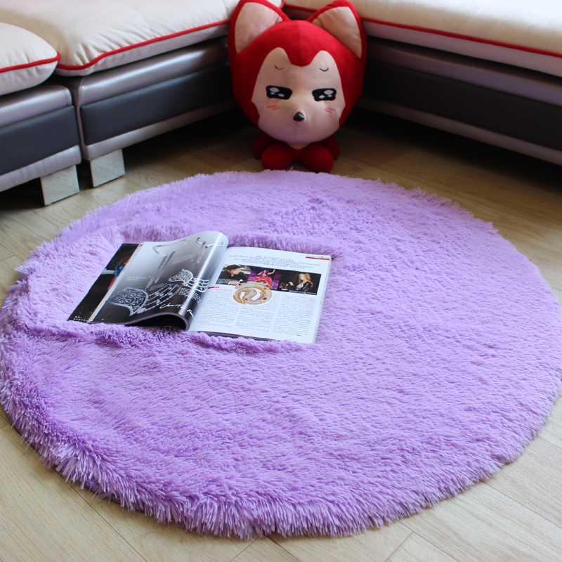 Soft Shaggy Round large Area Carpets for Living Room Rug Kids Room computer chair Mat Carpet For Child Bedroom Game Crawl Rugs