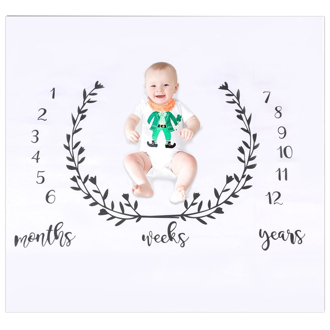 Baby Monthly Blanket Decorative Cute Balloon Decor Creative Photo Prop