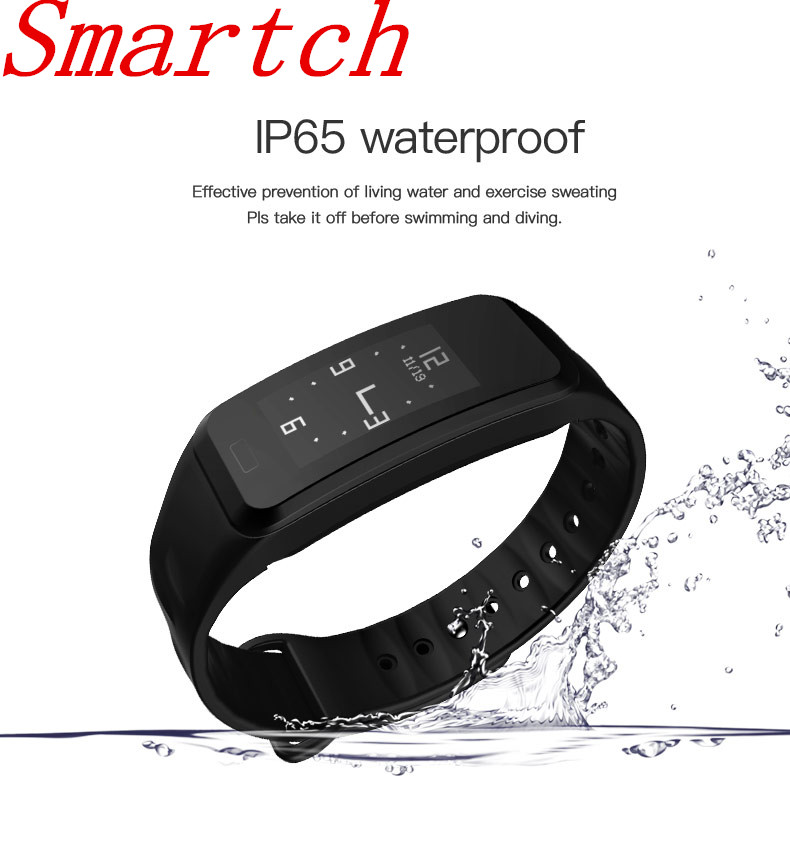 Smartch R1 Bluetooth Smart Bracelet Waterproof activity Fitness Tracker Heart Rate Monitor Smart Wristband Band for