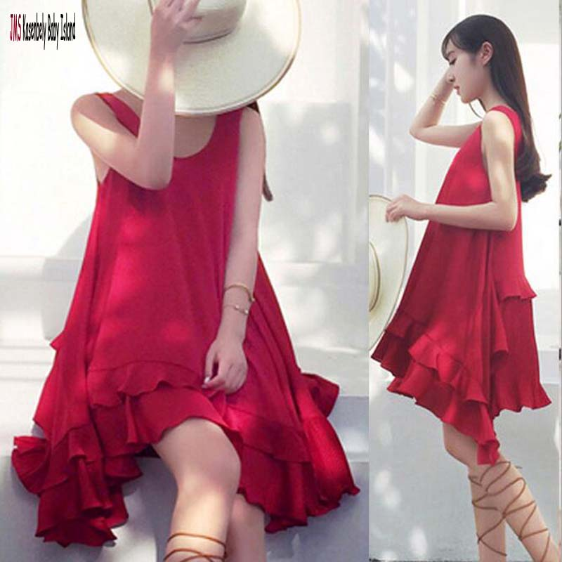 JMS Kasenbely Red Vestido Maternity Clothes Ruched Pregnanacy Dresses Irregular Solid Maternity Dresses Summer Casual Dresses