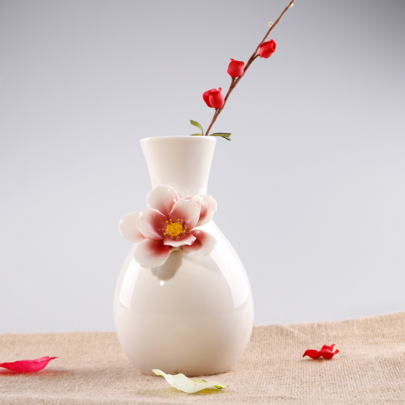 Modern Brief Fashion Ceramic Small Vase Decoration Gift