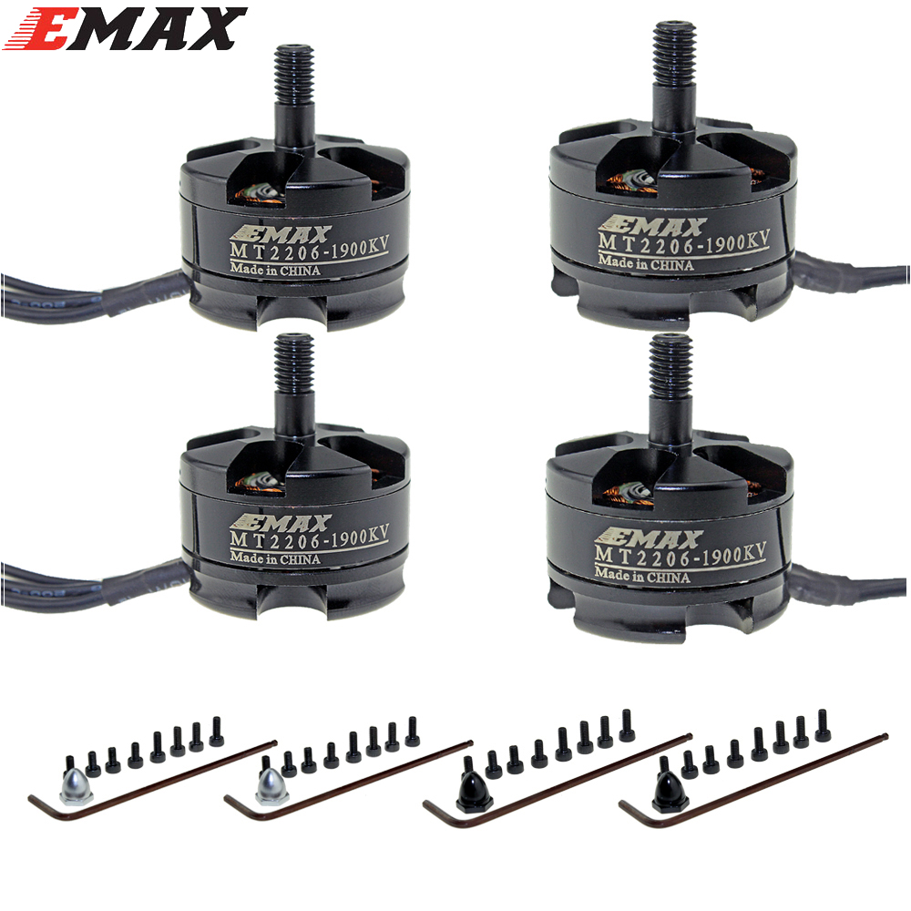Emax mt2206 kv1500/kv1900 brushless Motores CW/CCW para FPV qav250 280 RC multicopter KK quadcopter apm2.5 pixhawk multirotor