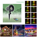 Remote RG 8 Christmas Patterns Outdoor Waterproof Laser Projector Garden Holiday Christmas Tree Red Green Landscape Light show