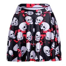 Popular Black Skull Women Sexy Pleated Skirts Tennis Bowling Bust Shorts Skirts Cool Girls Fitness Sport Apparel A Style Skirst