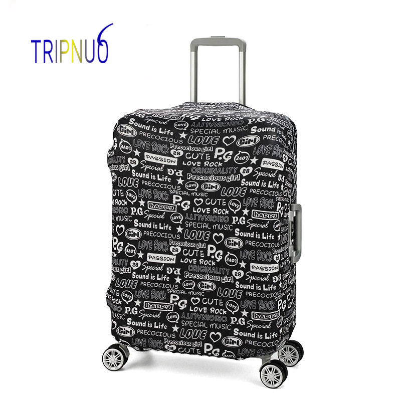 TRIPNUO Graffiti Luggage Cover Dust-proof Travel Bag Cover 18-30 Inch Pink Suitcase Protective Covers Portable цена
