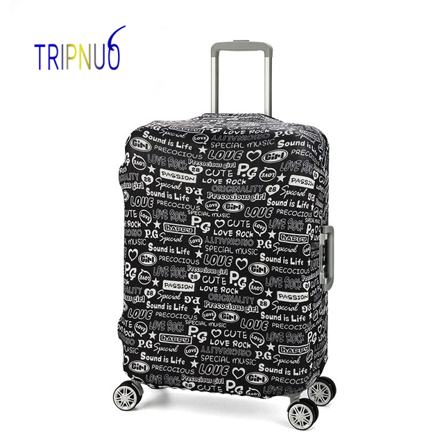 TRIPNUO Graffiti Luggage Cover Dust-proof Travel Bag Cover 18-30 Inch Pink Suitcase Protective Covers Portable Luggage Covers