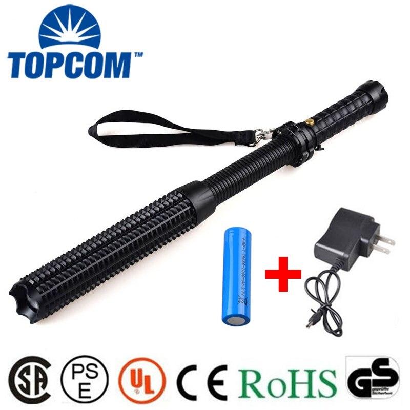 [Free ship] 2000LM XML T6 Telescopic Zoom Long Tactical Self Defense LED Flashlight Torch Light Baseball Bat фонарик xml t6 838 2000lm e6