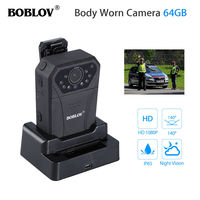 BOBLOV WN12 wifi 12mp Body Worn Camera 64GB GPS Police Security Camcorder HD 1080P Guard Infrared 4000mAh rechargeable battery
