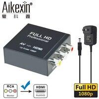 Aikexin Mini AV To HDMI Converter Box 1080P Video Converter Audio Adapter AV2HDMI