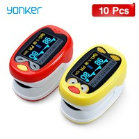 Wholes 10Pcs/Lot Medical Infant Fingertip Pulse Oximeter Chargeable with 1 12 Years Old Kids Neonatal Blood Oxygen