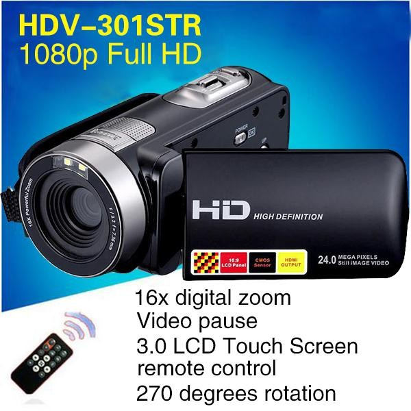Night Vision Video Recorder Camcorder Full HD1080P Video Camera Professional 270D Rotation 24MP 3 0 HD