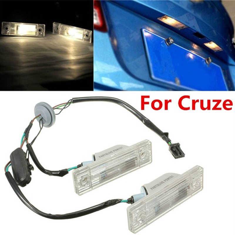 אחורי חזרה לוחית רישוי אור עם מתג תא מטען כפתור עבור שברולט Cruze