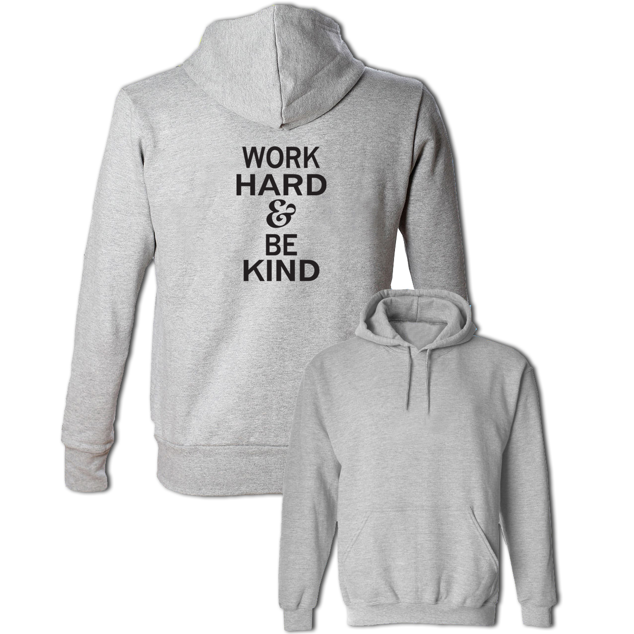 Work Hard & Be Kind Cotton Sweatshirts Women Men Lettering Pullovers Spring Autumn Casual Hoodies For Girl Lady Cool Streetwear