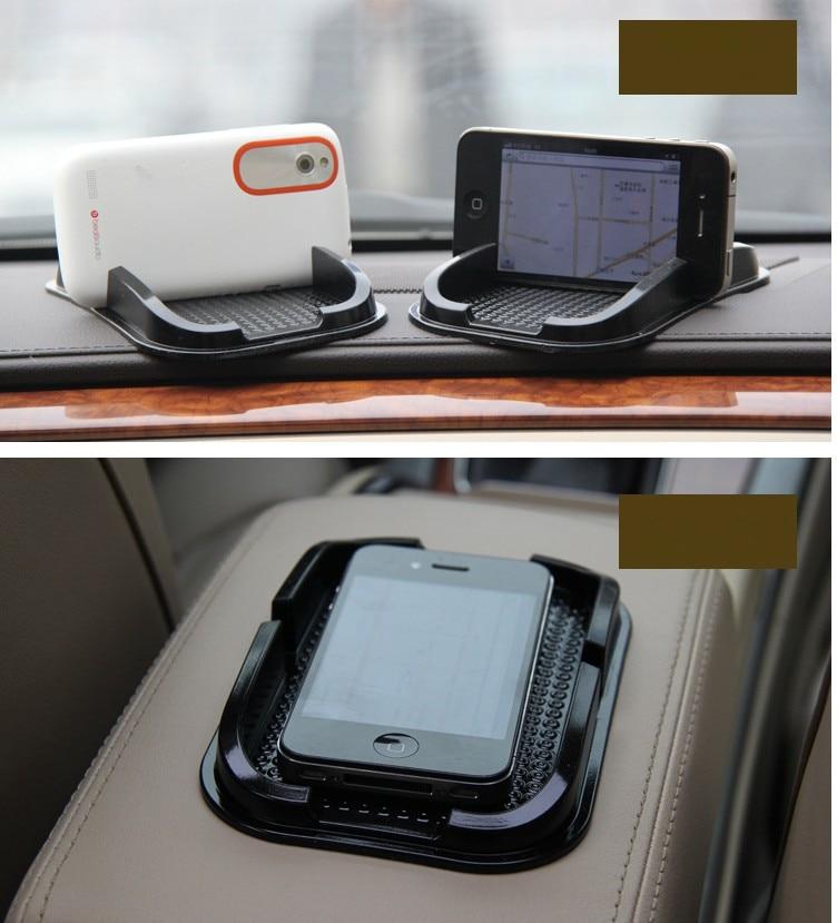 1Pc Hot!!! New Black Car Accessories Mobile phone mat for Nissan Tiida Teana Skyline Juke X-trail Almera Qashqai Accessories mobile phone