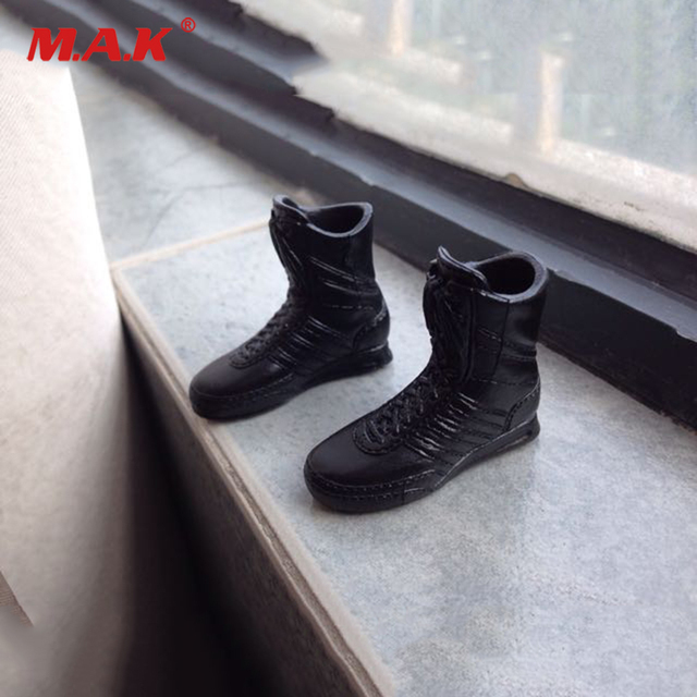 a8aabfa6fdfbf4 1 6 Scale Accessories Male Shoes Black Hawk Special Police GSG9 Combat Boots  Full Inside Model for 12 inches Action Figrue Body