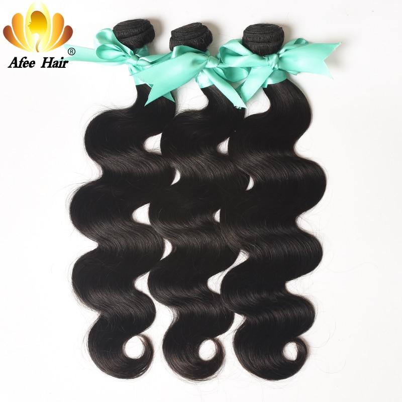 Aliafee Hair Μαλαισιανό σώμα σώματος 3 - Ανθρώπινα μαλλιά (για μαύρο) - Φωτογραφία 4