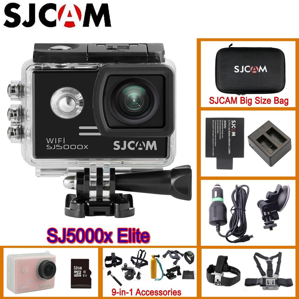 SJCAM SJ5000X Elite Wi-Fi 4 К 24fps 2k30fps гироскопа Спорт DV 2.0 ЖК-дисплей ntk96660 Дайвинг 30 м Водонепроницаемый действие оригинальный камера