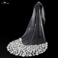 TA035 3D Flowers 3 Meters Length Wedding Veilcheap Wedding Hair Accessories