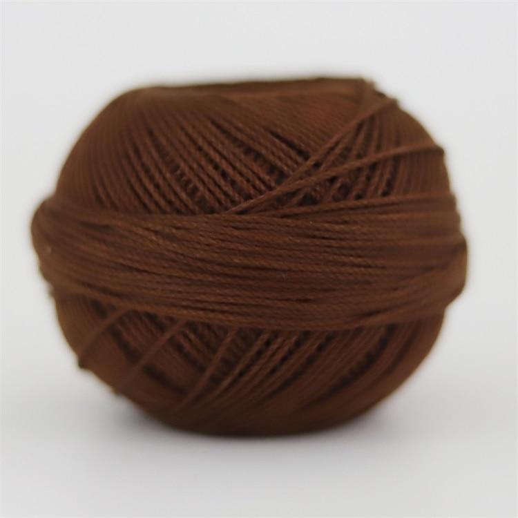 Размер 3 хлопковая Жемчужная Нить египетская длинная Штапельная хлопковая пряжа газированная двойная мерсеризованная 6 нитей плетение 50 грамм на шарик - Цвет: 692